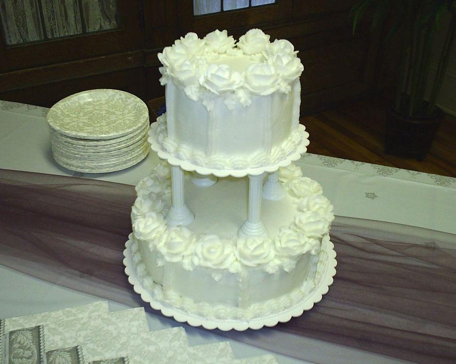 Wedding Cakes With Ercream Roses Cake 6 10 Decorated