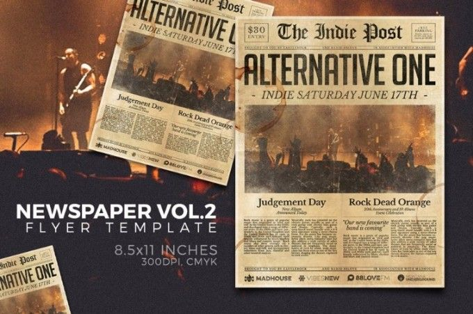 Old Newspaper Template  Psd Indesign And Ai Format   Old