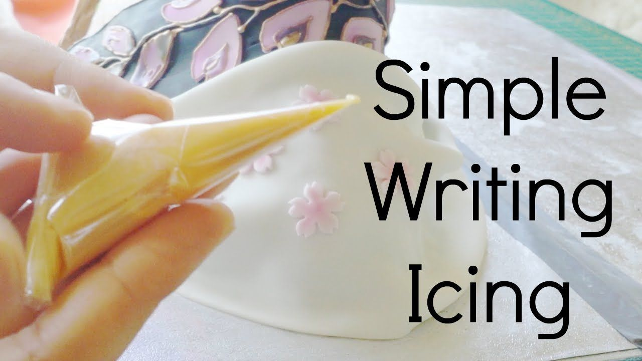 Simple egg-free writing & outlining icing (Royal icing substitute) - YouTube Simple egg-free writing & outlining icing (Royal icing substitute) - YouTube