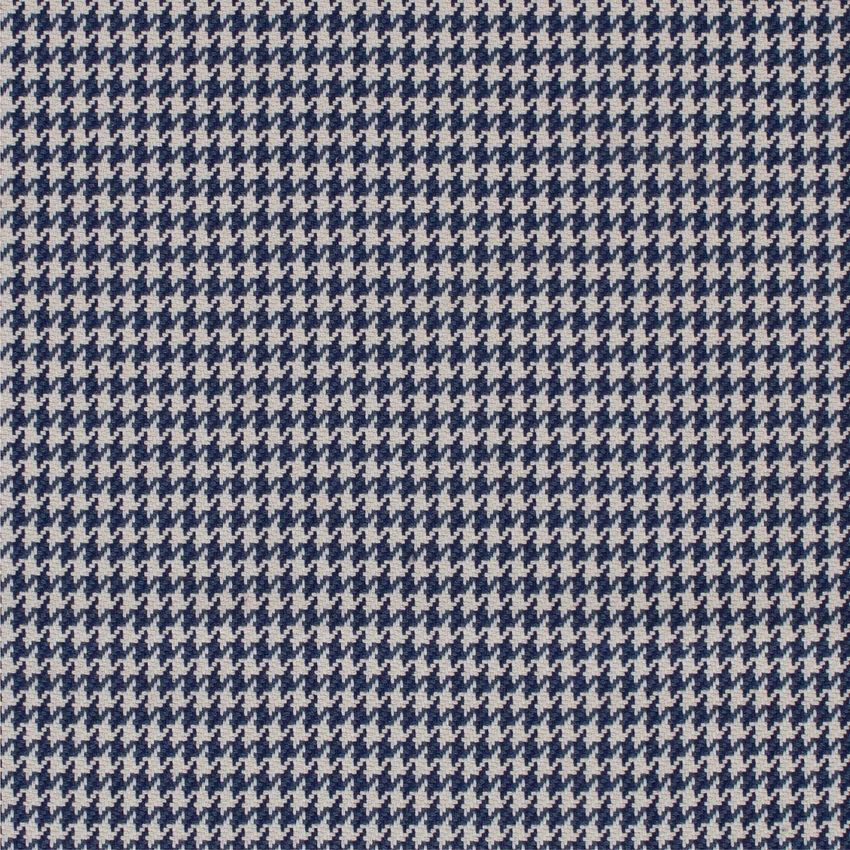 Navy Blue And White Houndstooth Upholstery Fabric Houndstooth