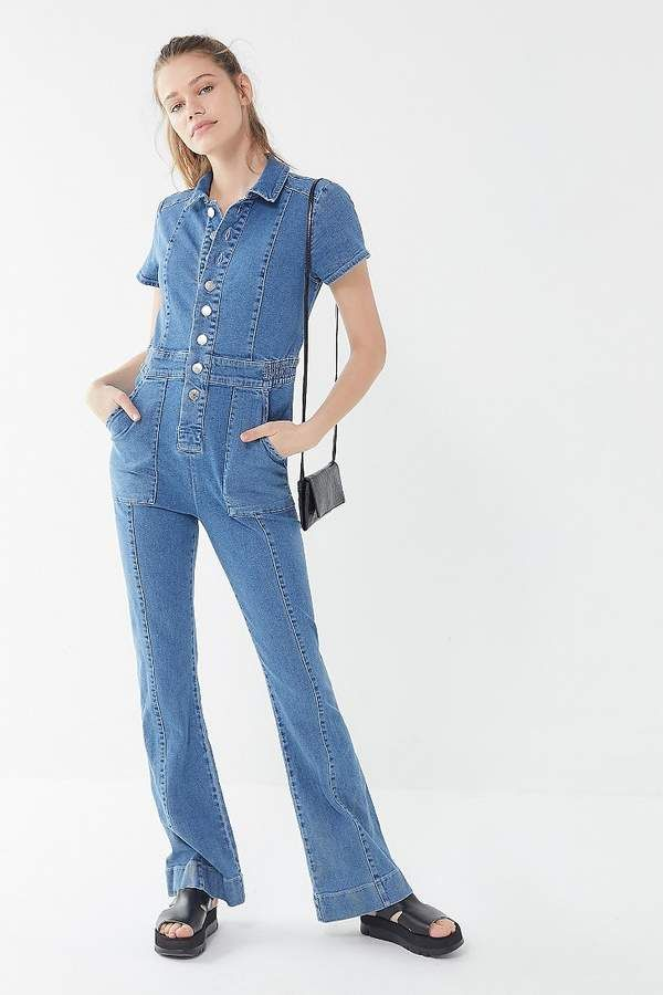 d0c53cb2 BDG '70s Denim Collared Button-Front Jumpsuit in 2019   Products ...