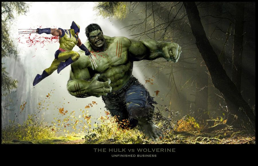Hulk vs Wolverine by uncannyknack on deviantART Marvel
