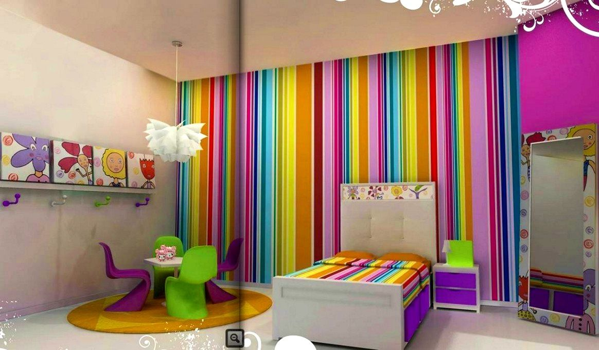 Decorations Nice Decor Of Colorful Wall Painting Also Kids Room