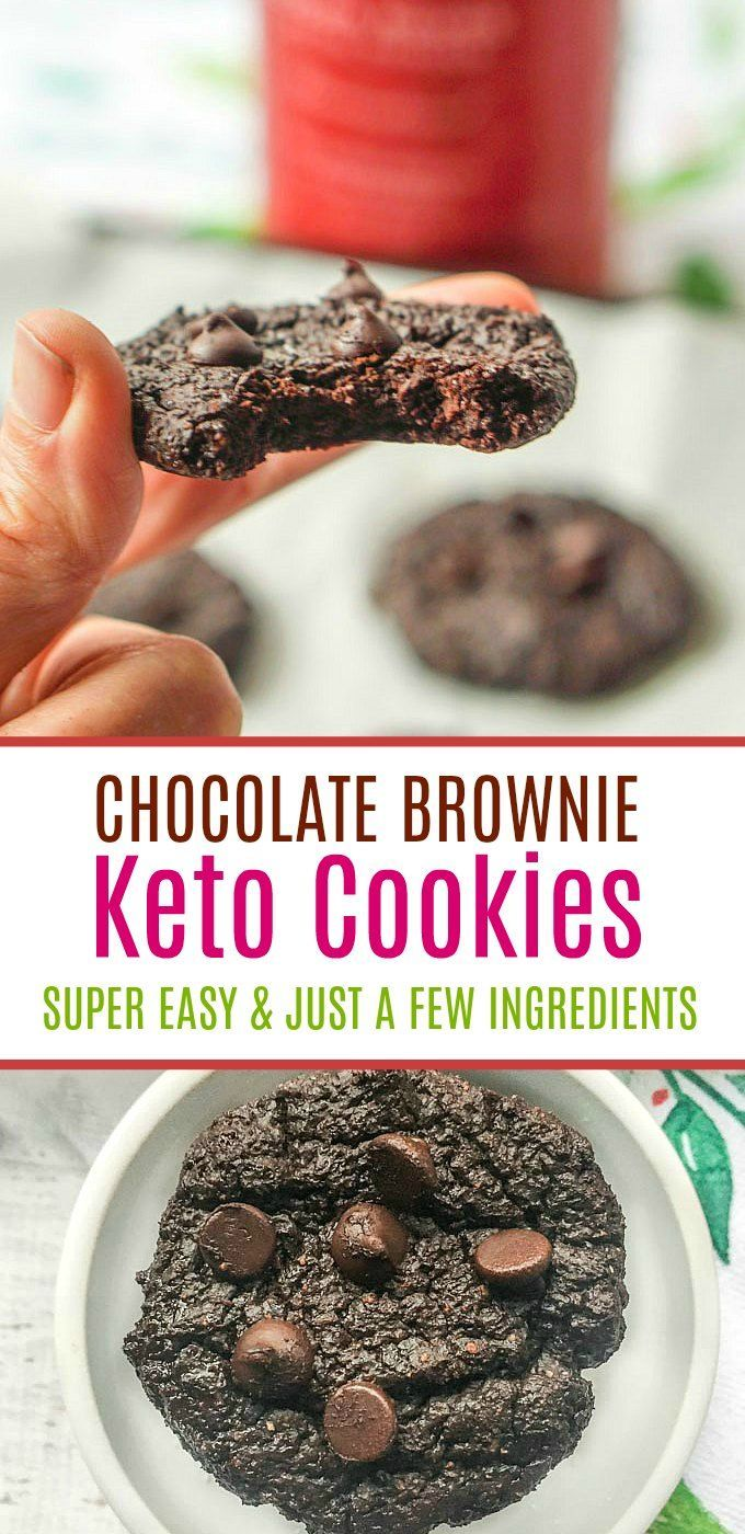 Chocolate Brownie Keto Cookies - super easy keto snack with just a few ingredients! 1.2g net carbs | MyLifeCookbook
