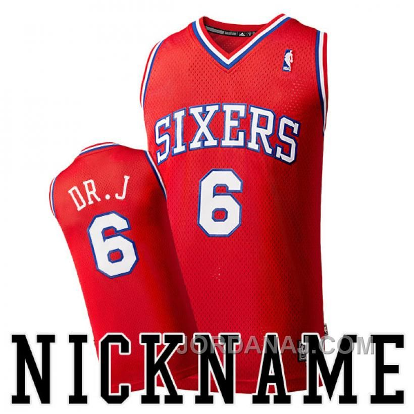 d10969e3036 ... Mens Adidas Philadelphia 76ers 6 Julius Erving Authentic Red Road NBA  Jersey ... Discover the Julius Erving Philadelphia Nickname DR.J Throwback  Red ...
