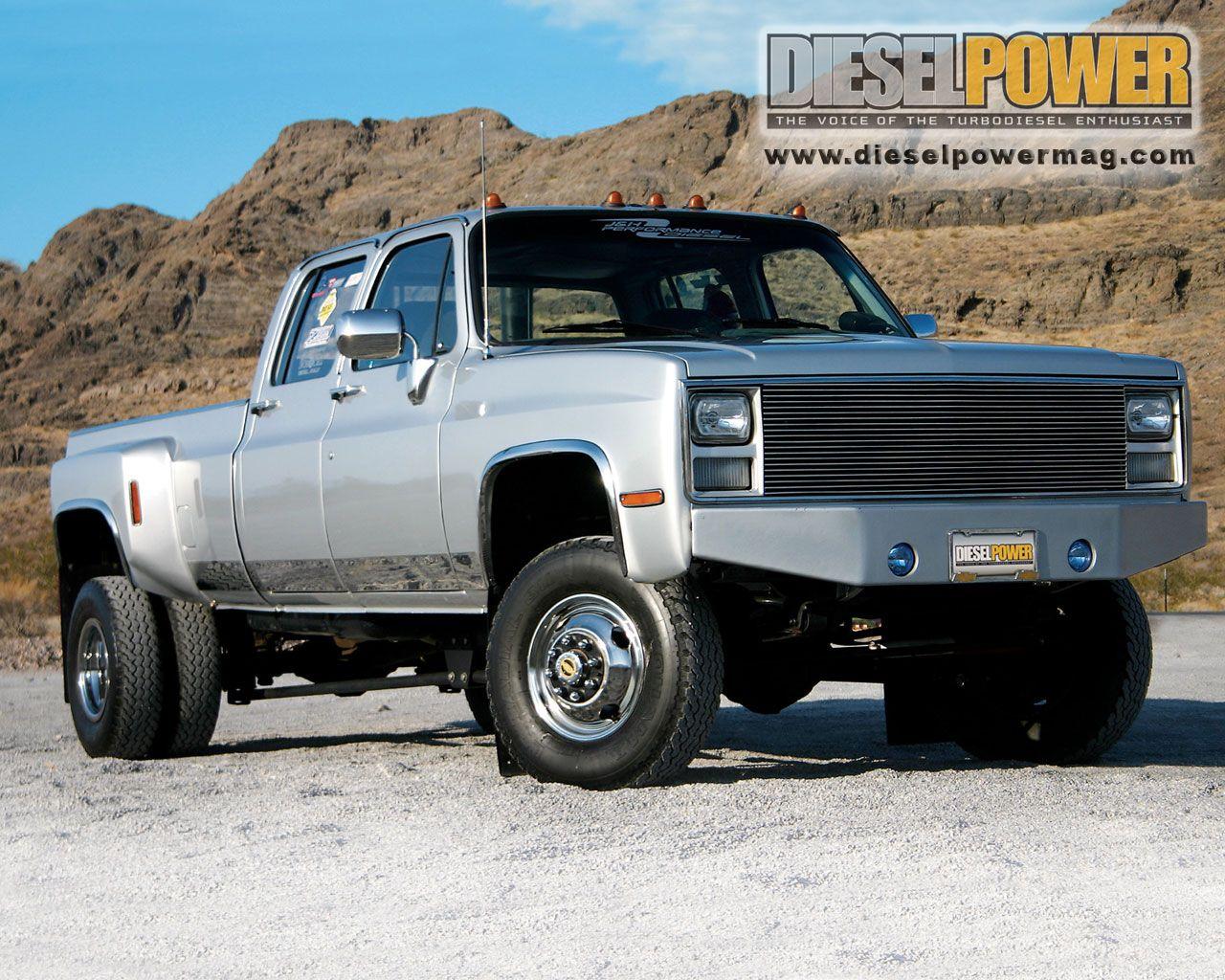 1980 chevy silverado dually 4x4 6 6l duramax diesel 6 speed manual trans 31 to 33 tires [ 1280 x 1024 Pixel ]