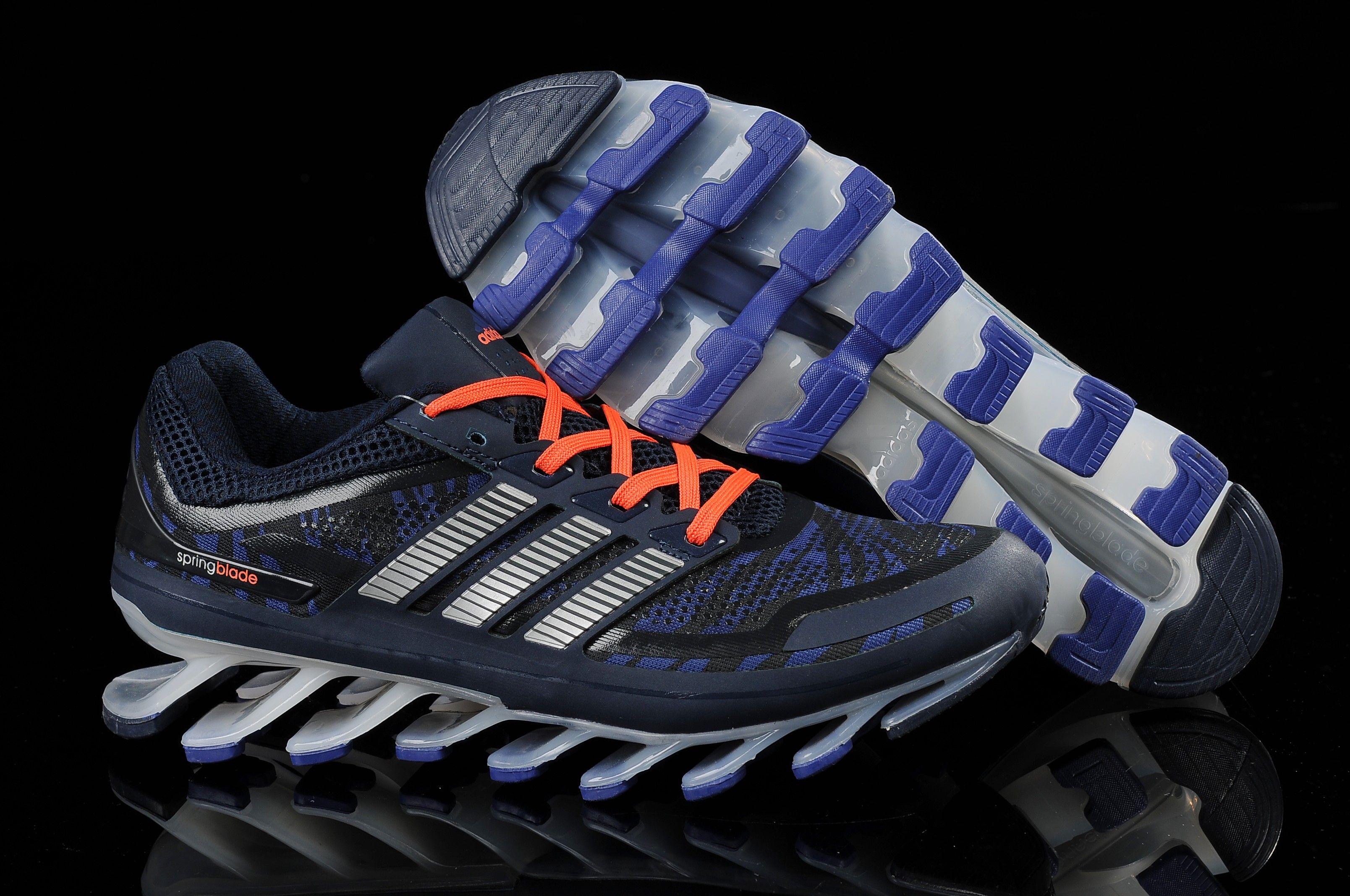 Cheap Adidas Springblade Camo Blue Sliver Orange Men's