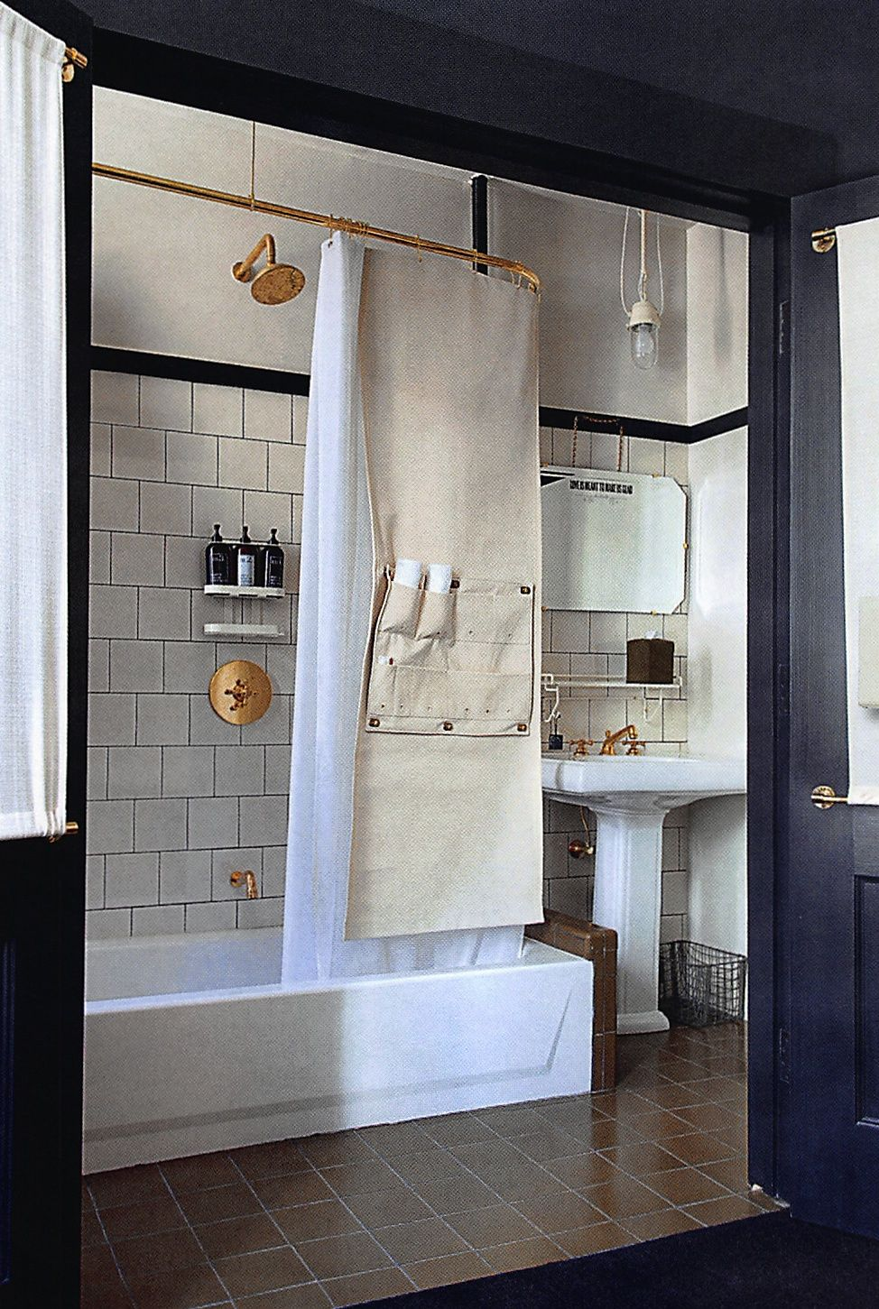 Copper Fittings At Ace Hotel New York Bathroom