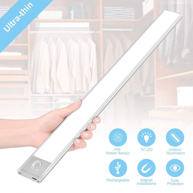 70 LED Closet Light,Cotanic Motion Sensor Under