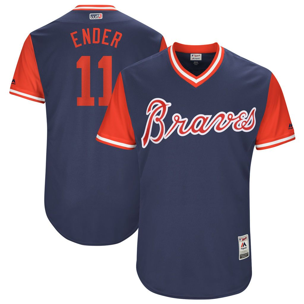 Ender Inciarte Ender Navy 2017 Little League World Series Players Weekend Jersey Atlanta Braves Braves Atlanta Braves Jersey