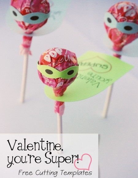 Click Pic For 25 DIY Valentines Day Cards For Kids | Super Tootsie Pop  Cards |