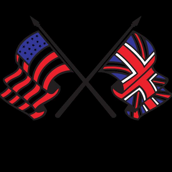 Flag Of Uk And Usa