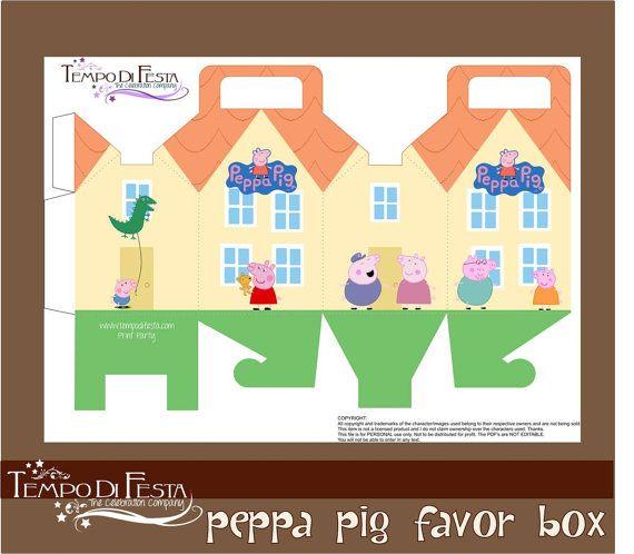 Peppa pig Favor box by Tempodifesta on Etsy