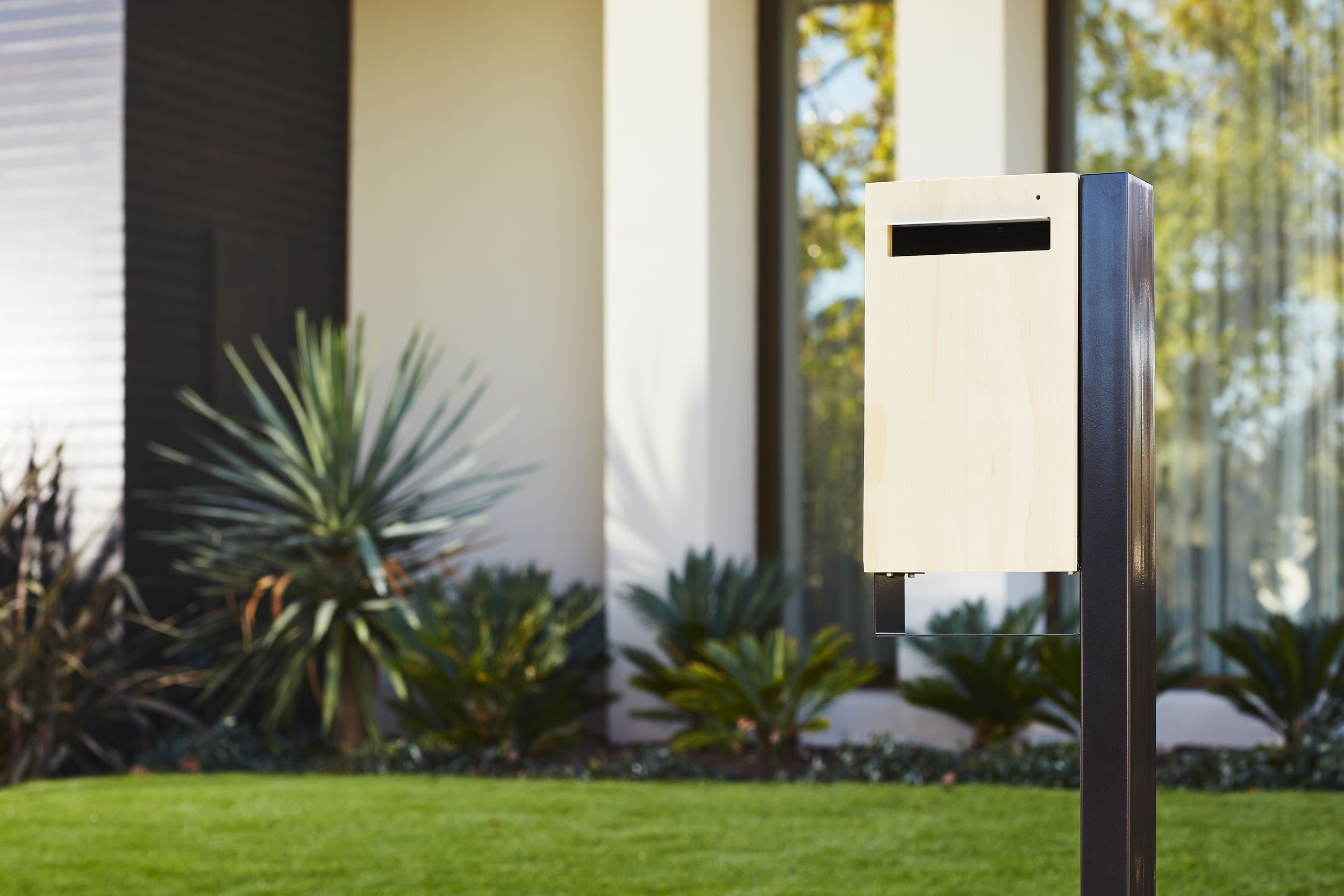 Post Mount Charcoal Contemporary Mailboxes Modern Mailbox Mailbox Design