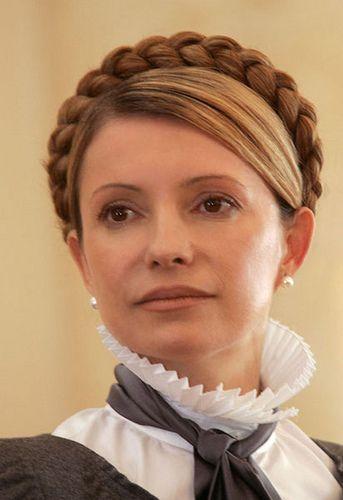 Julia Timoschenko Beauty Ruschenkragen Steckfrisuren