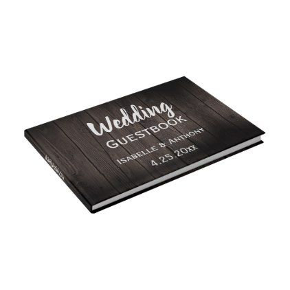 Dark rustic woodsy white wedding guest book cyo customize do it dark rustic woodsy white wedding guest book cyo customize do it yourself diy solutioingenieria Choice Image
