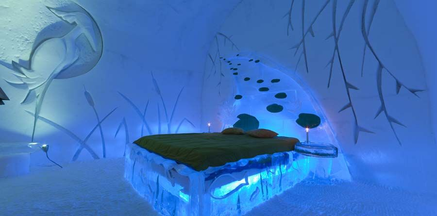 Located Only 10 Minutes From Downtown Quebec City Canada The Hotel De Glace Is America S Ice Entirely Made Of And Snow