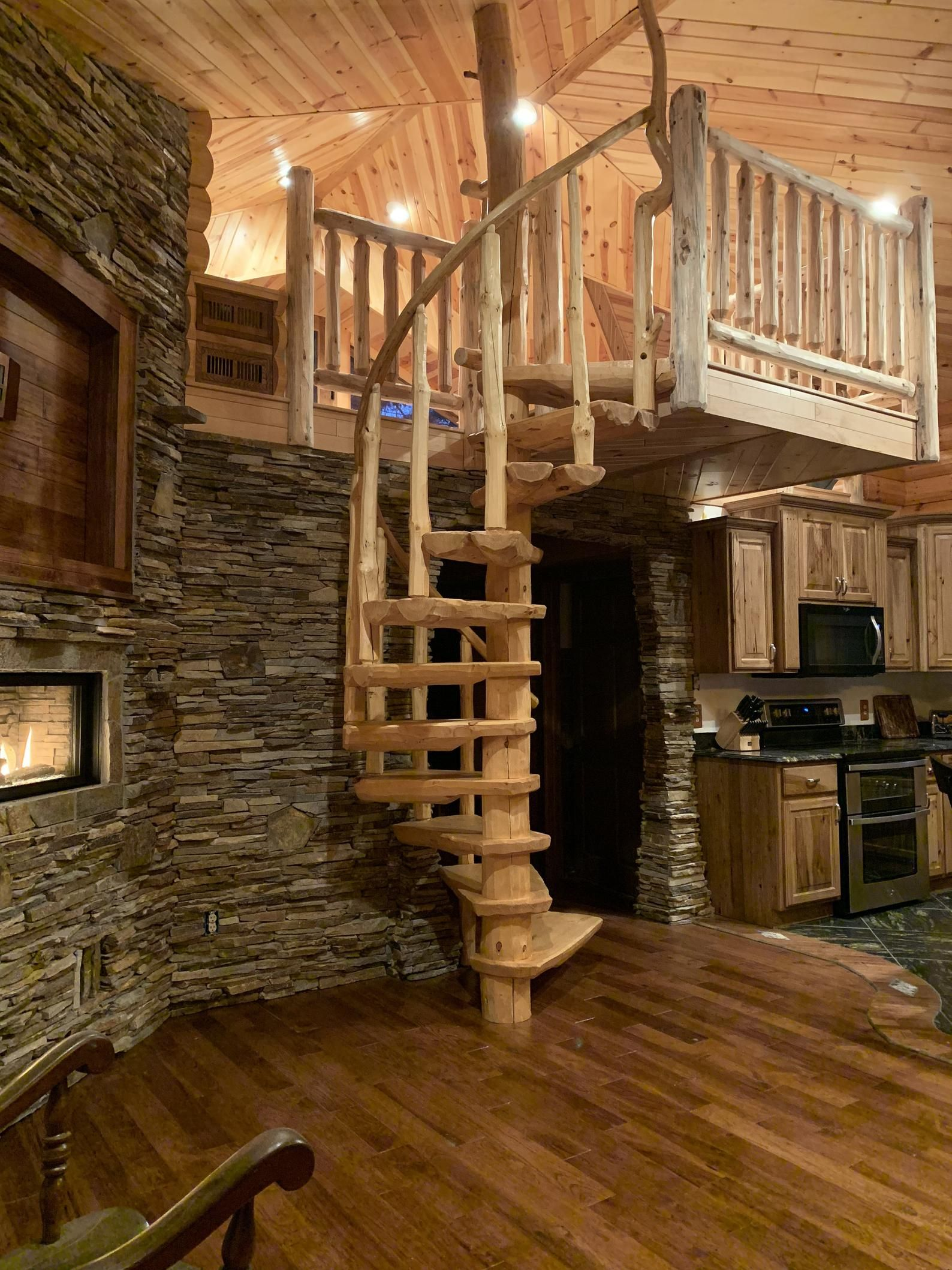 Best Rustic Pine Spiral Staircase Custom Made To Order 640 x 480