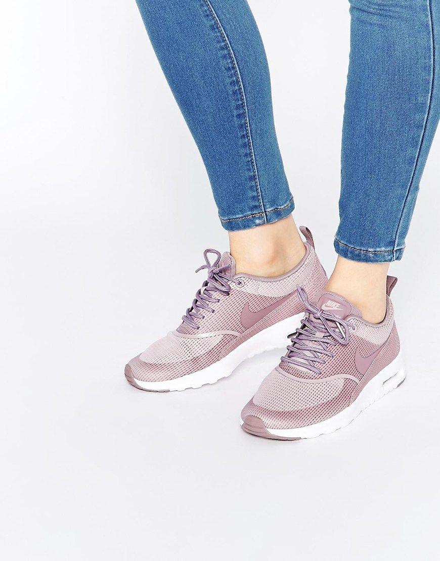 nike air max thea premium w chaussures gris rose