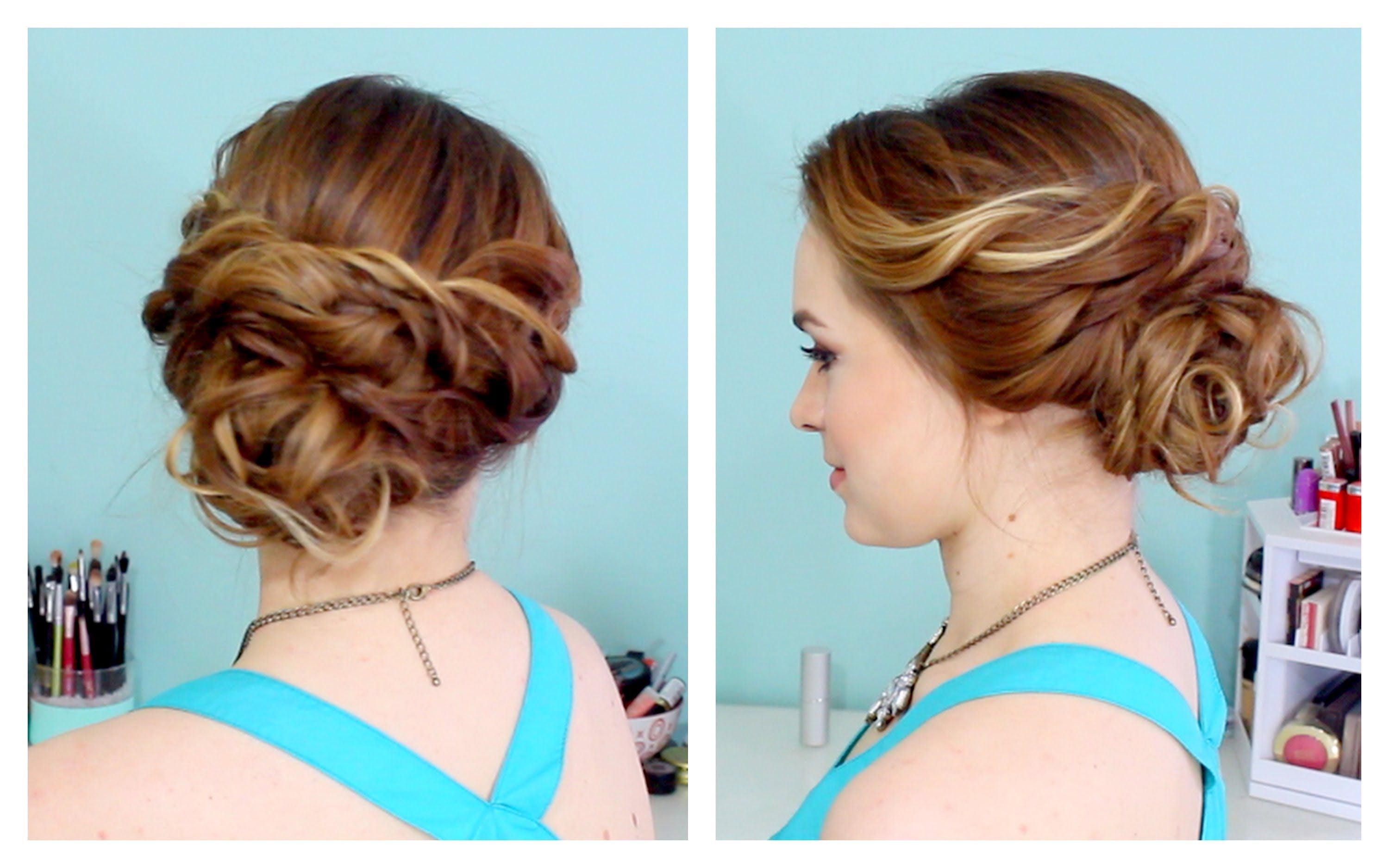 Prom Updo Hairstyles Quick Side Updo For Prom Or Weddings D Playlist  Hairstyles