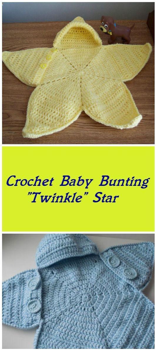 "Crochet Baby Bunting "" Twinkle Star"" | Schöne Häkelarbeiten ..."