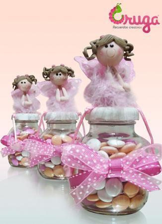 centros de mesa dulceros recuerditos para baby shower bautizos
