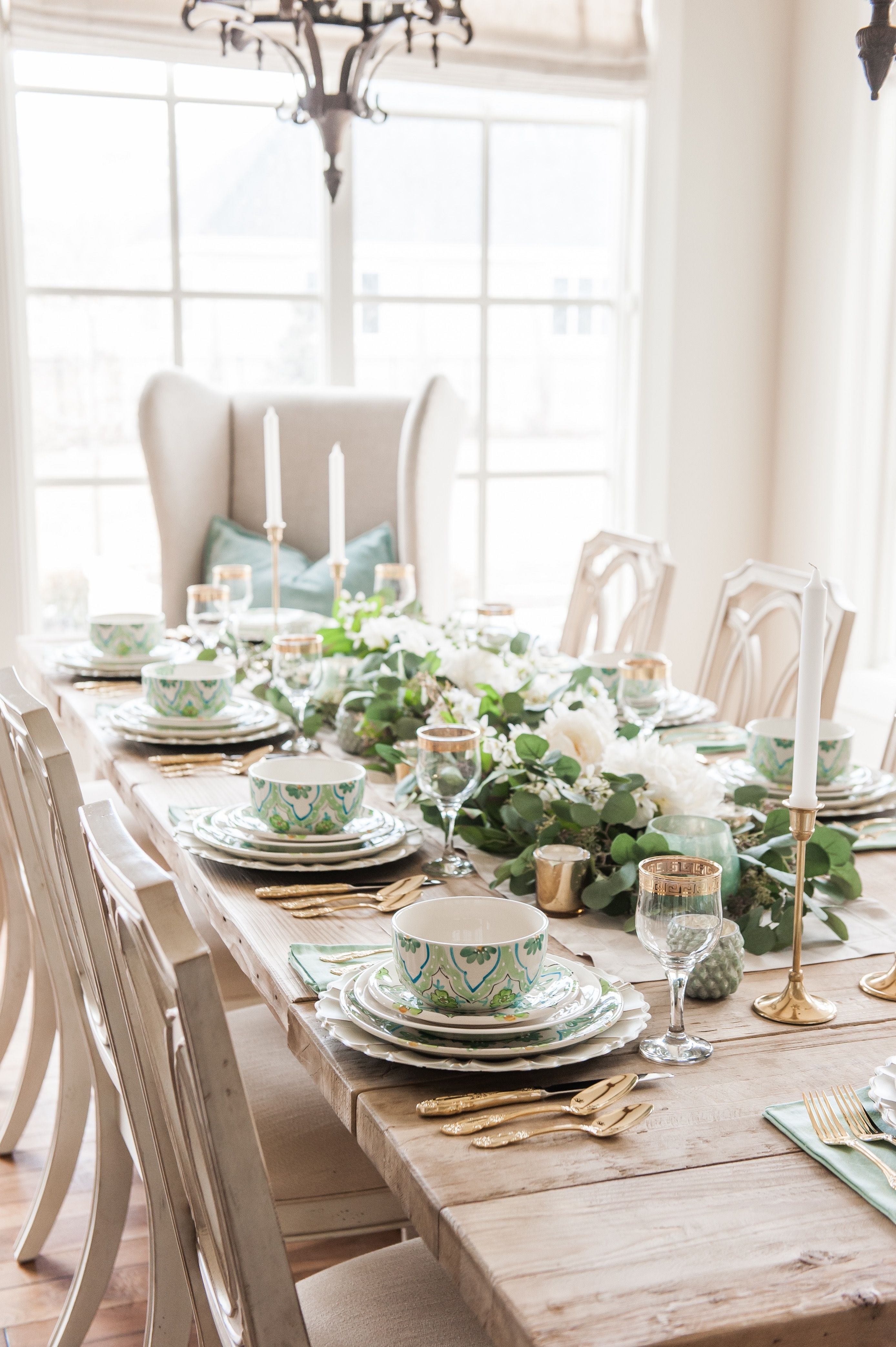 Blue And Green Tablescape Inspiration Homewithhollyj Dining