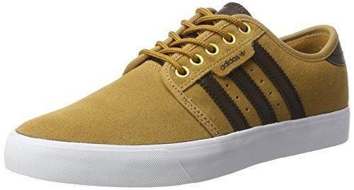 Adidas Seeley, Zapatillas para Hombre, Naranja (Mesadark Brownftwr White), 41 1/3 EU