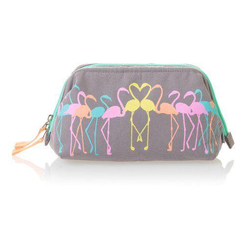 (vu) Flamingo Make Up Bag