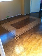 Paper Bag Floors W Stencil For Using Different Colored Stains