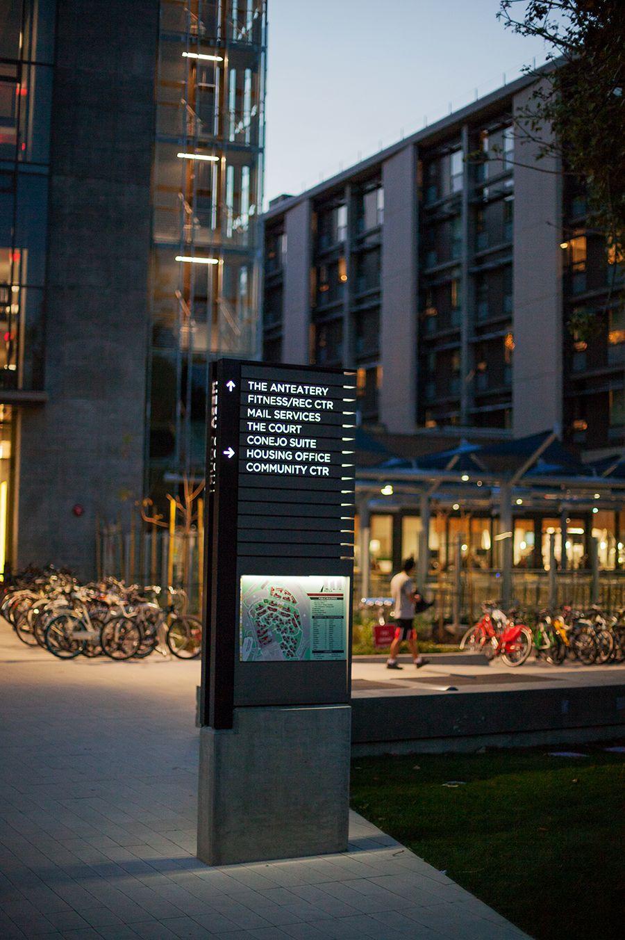 Mesa court towers portfolio campus design signage