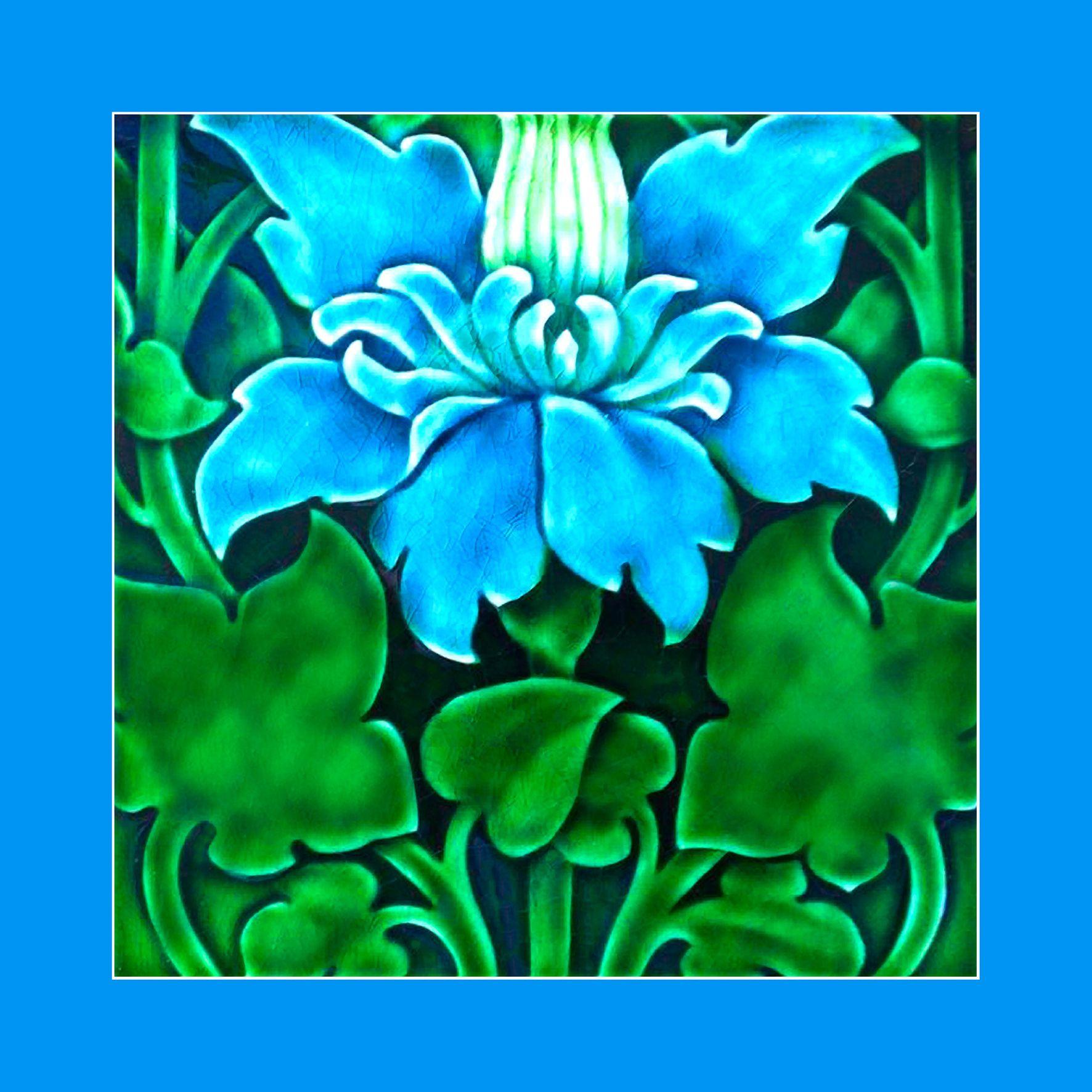 109 Art Nouveau Tile By Pilkington 1905 Courtesy Of Robert Smith From His Book Art Nouveau Tiles With Style Buy Art Nouveau Tiles Tile Art Art Deco Tiles