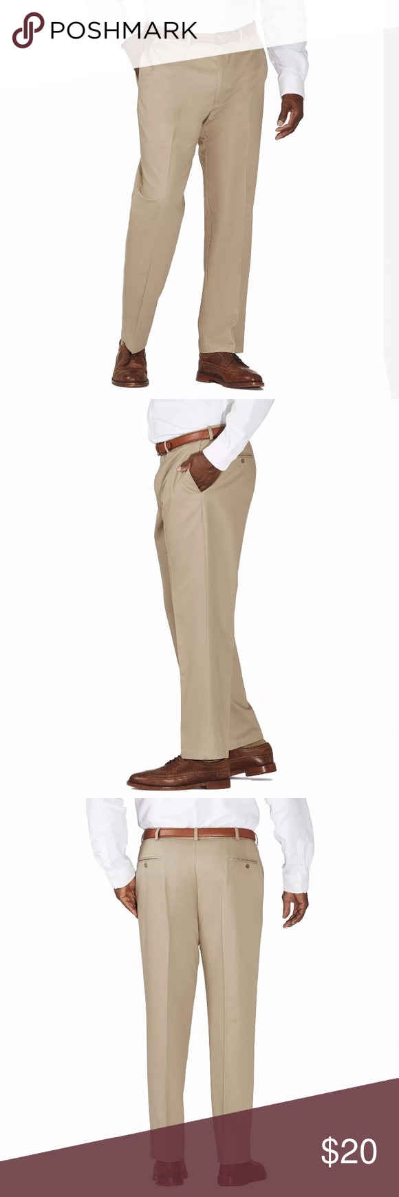 Haggar 50x30 Work To Weekend Flat Frnt Pants Khaki Haggar Clothes Design Pants