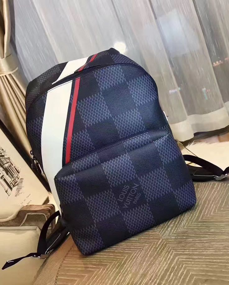 068a732b609a Louis Vuitton Damier Cobalt Apollo Backpack Red. See more LV bags at http