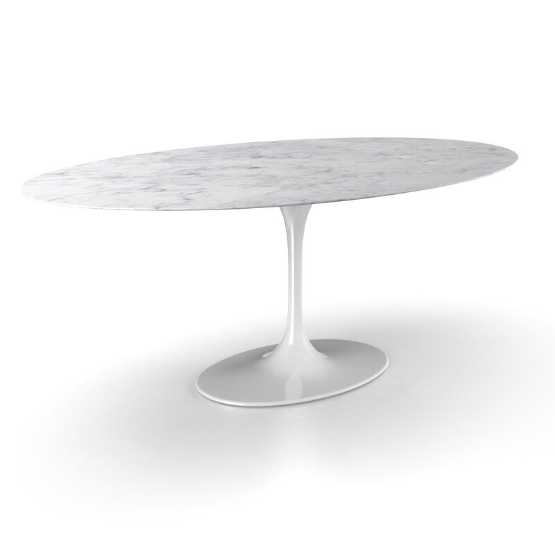 Larkson Carrera Marble Oval Dining Table Reviews Allmodern