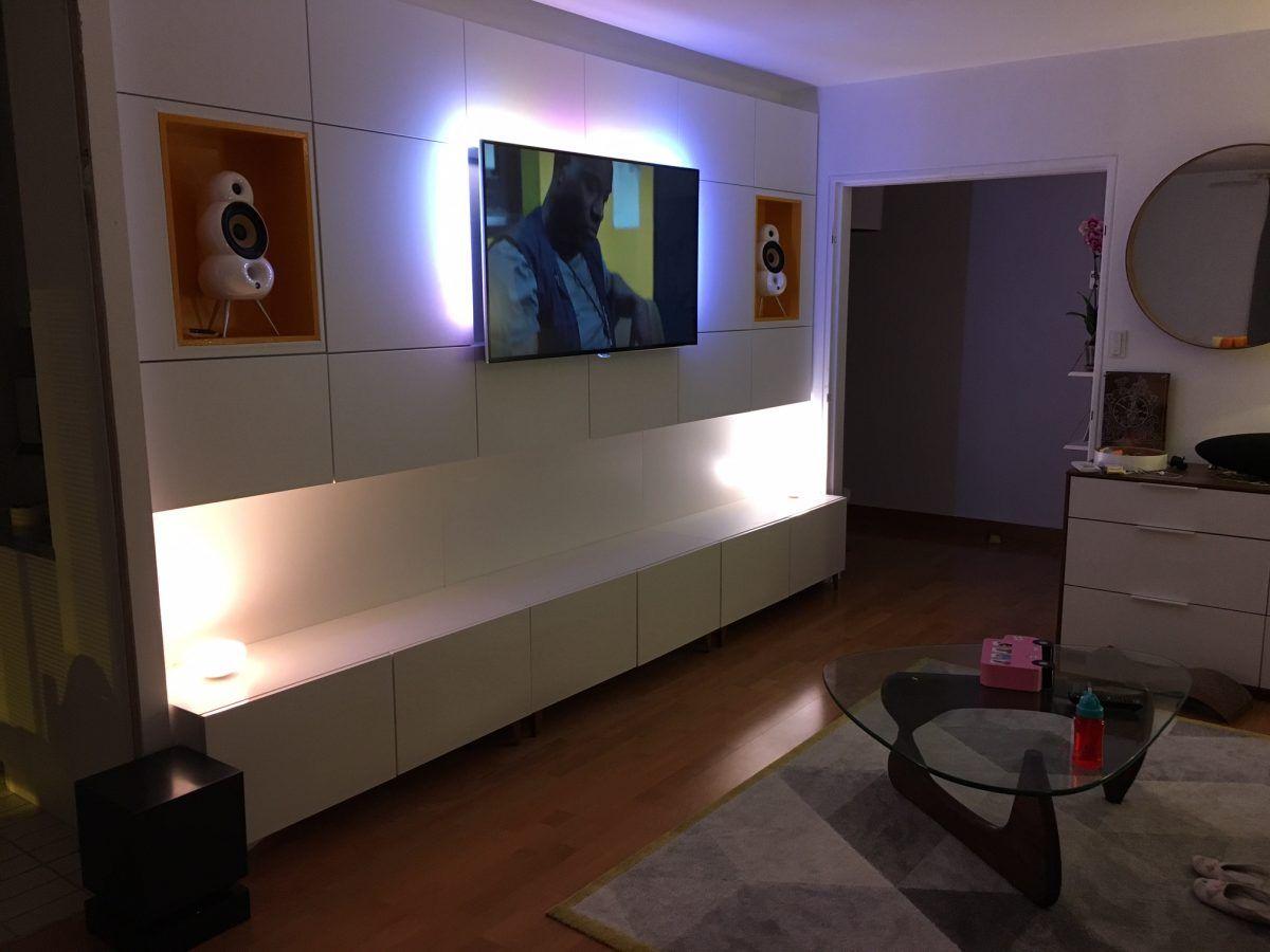 vid o timelapse comment cr er un mur multim dia ikea. Black Bedroom Furniture Sets. Home Design Ideas
