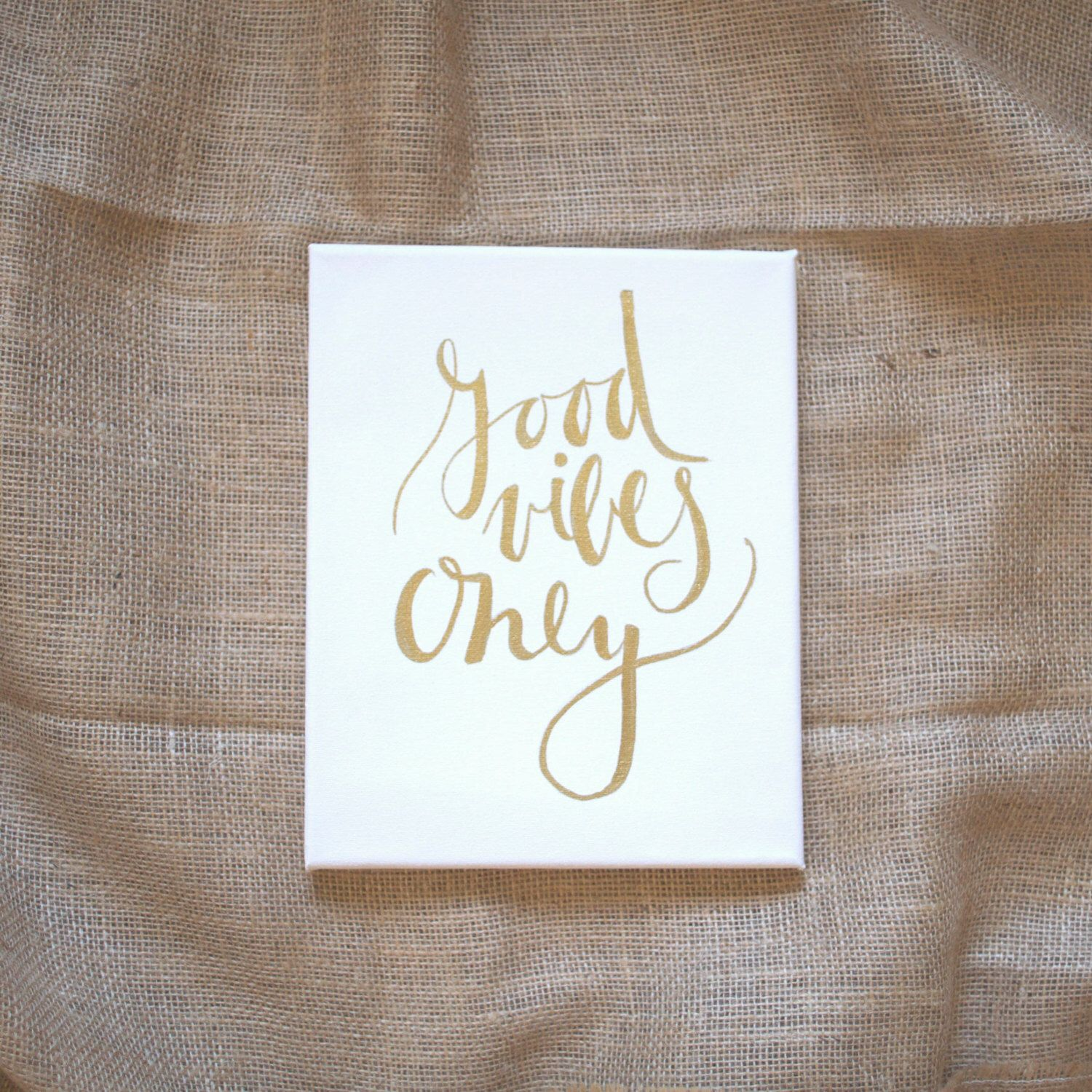 Gold Letter Wall Art Good Vibes Only Typography Wall Art Gold Print Gold Wall Art