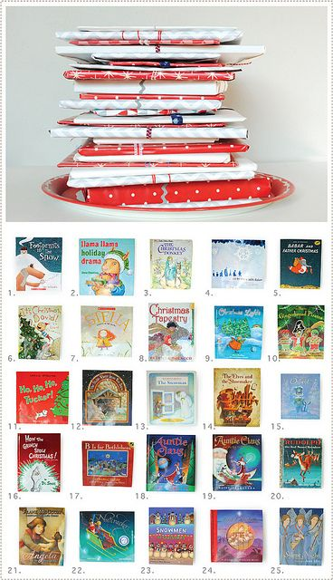Clever advent calendar for bookworms. One children's Christmas book per day. (via MerMag)