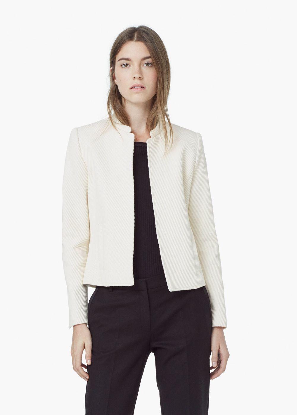 Chaqueta textura algodón - Chaquetas de Mujer  2f0e344d91d4