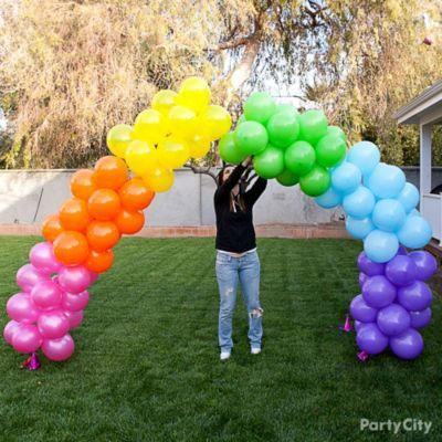 Rainbow Balloon Arch How-To - Party City