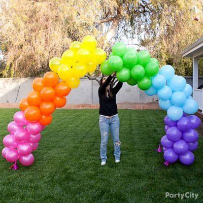 Rainbow Balloon Arch How To Party City Rainbow Balloon Arch Party City Balloons Rainbow Balloons