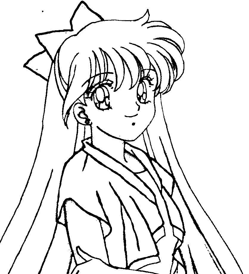 Sailor Venus Smile | Sailor Moon Coloring Pages | Pinterest | Sailor ...