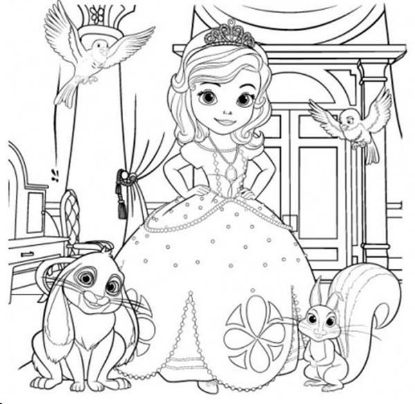 Sofia The First And Her Friends Coloring Page Netart Disney Coloring Pages Printables Coloring Pages Geometric Coloring Pages