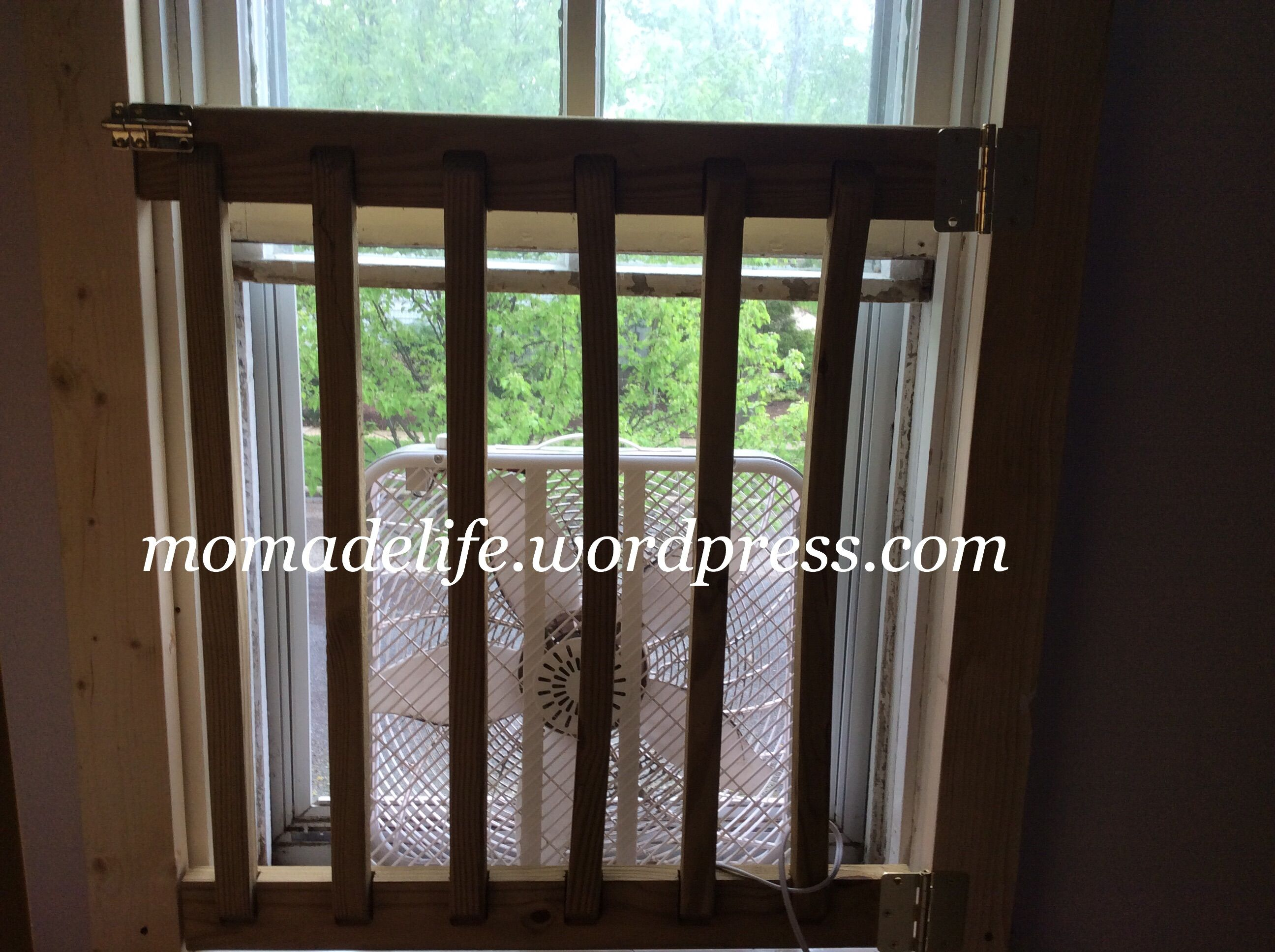 Diy Window Safety Gate For An Autistic Child On Momadelife Wordpress Com And More Creations On Facebook At Momadecreations Childproofing Window Safety Windows