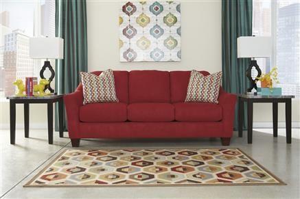 Pleasing Red Sofa Blue Curtains Example Hannin Spice Fabrics Sofa Theyellowbook Wood Chair Design Ideas Theyellowbookinfo