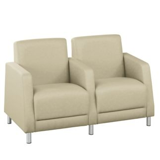 Leather Upholstery 2-Seat Sofa with Center Arms // NBF Signature Series Boulevard Collection