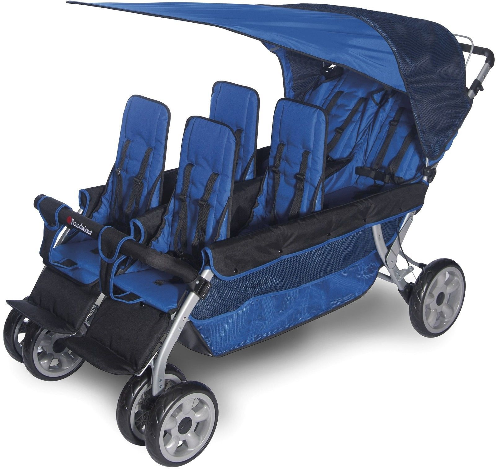 6 Seat Stroller Multiple Child Twin Triplet Quadruplet