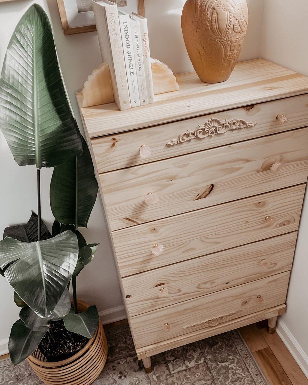 Ikea tarva dresser hack neutral bedroom decor urban