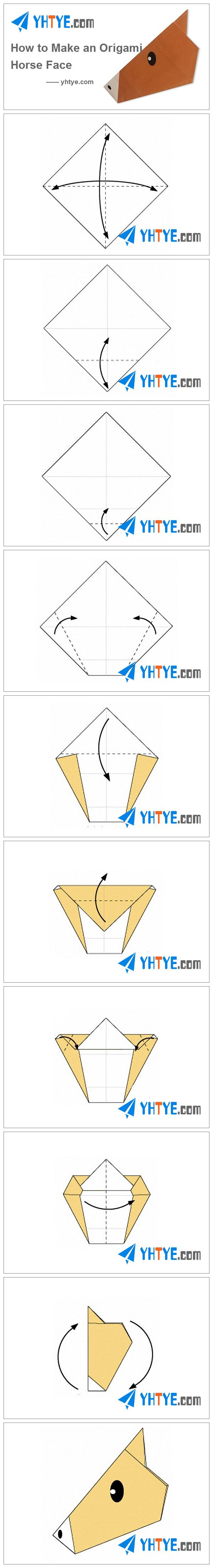 How to Make an Origami Horse's Face Origami horse