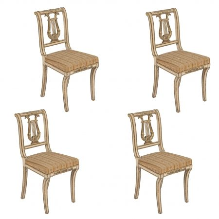 EARLY C19th AUSTRIAN EMPIRE DINING CHAIRS By Birgit Israel